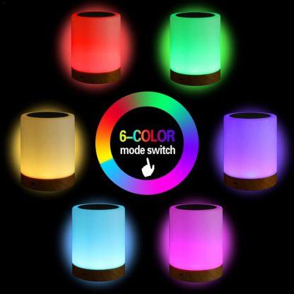 침실 수면등 스마트 터치 램프KAIGELIN 6 Colors Light-adjustable LED Colorful Rechargeble Little Nightlight Table Bedside Nursing Lamp Breathing Touch light 3