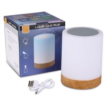 침실 수면등 스마트 터치 램프KAIGELIN 6 Colors Light-adjustable LED Colorful Rechargeble Little Nightlight Table Bedside Nursing Lamp Breathing Touch light 5