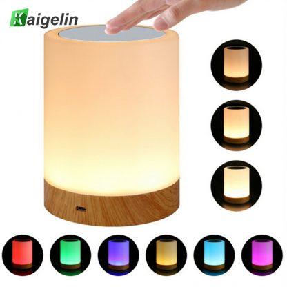 침실 수면등 스마트 터치 램프KAIGELIN 6 Colors Light-adjustable LED Colorful Rechargeble Little Nightlight Table Bedside Nursing Lamp Breathing Touch light
