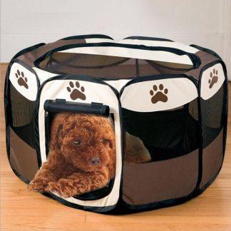 휴대용 강아지 하우스 접이식 텐트형 Portable Folding Pet Tent Dog House Cage Dog Cat Tent Playpen Puppy Kennel Easy Operation Octagonal Fence Outdoor Supplies