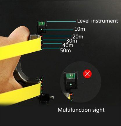 전문가용 알루미늄 새총 슬링샷Big power rubber band slingshot High precision flat leather slingshot professional fast bow outdoor special for  hunting 1