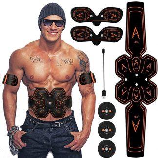 복부 운동 진동 기계 다이어트 복근 ABS Stimulator Muscle EMS Abdomen Muscle Trainer Toner Toning Belt Home Gym Office Fitness Arm/Leg Vibration Fitness Massager