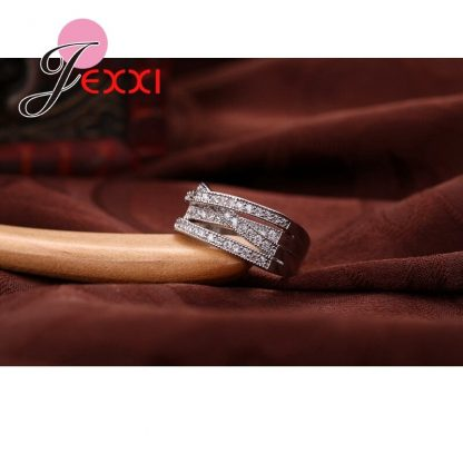 Jemmin New Fashion Rings For Women Party Elegant Luxury Bridal Jewelry 925 Sterling Silver Wedding Engagement Ring High Quality 2