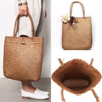 Fashion Womens Summer Straw Large Tote Bag Crossbody Beach Shoulder Bag Handbag 1