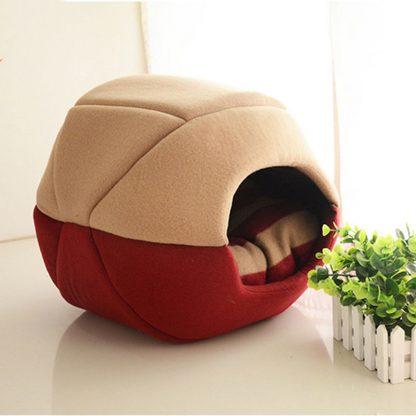 반려동물 접이식 2가지 용도 침대 쿠션  Uses Foldable Soft Warm Pet Cat Bed Dog Bed For Dogs Cave Puppy Sleeping Mat Pad Nest Blanket Pet Beds For Cats Bed House Cat 3