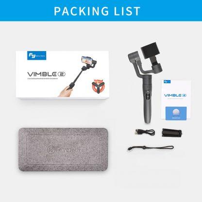 페이유 짐벌 스태빌라이저 스마트폰 유튜브 개인방송용 3축 짐발 디지털FeiyuTech Vimble 2 Feiyu 3-Axis Handheld Gimbal Smartphone Stabilizer Extendable Pole Tripod for iPhone X 8 XIAOMI Samsung 5