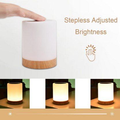 침실 수면등 스마트 터치 램프KAIGELIN 6 Colors Light-adjustable LED Colorful Rechargeble Little Nightlight Table Bedside Nursing Lamp Breathing Touch light 1