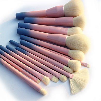 메이크업 뷰티 브러시세트 Gradient Color Pro 14pcs Makeup Brushes Set Cosmetic Powder Foundation Eyeshadow Eyeliner Brush Kits Make Up Brush Tool