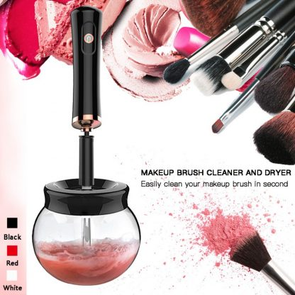 브러시 자동 클리너 세척 Electric Makeup Brush Cleaner Convenient Silicone Make up Brushes Washing Cleanser Cleaning Tool Machine New New 3