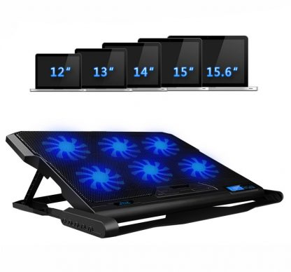 New Laptop cooler 2 USB Ports and Six cooling Fan laptop cooling pad Notebook Stand for 12-15.6 inch for Laptop 4