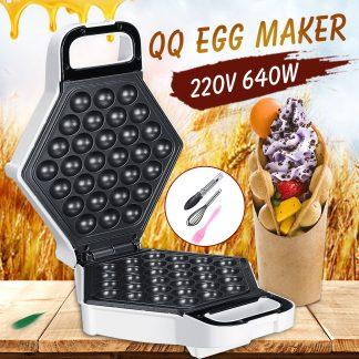 가정용 디저트 와플 제조기640W 220V Non Stick Electric Bubble QQ Egg Maker Oven Waffle Baker Machine Gifts