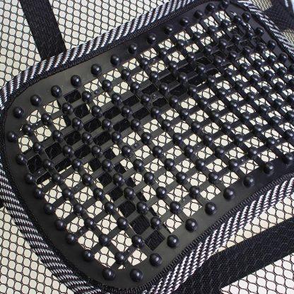 차량용 등쿠션 40CMx40CM Universal Car Back Support Chair Massage Lumbar Support Waist Cushion Mesh Ventilate Cushion Pad For Car Office Home 4