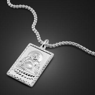 불교 목걸이 Chinese style Buddha pendant necklace fashion brand solid 925 silver necklace for men personality woman sterling silver jewelry