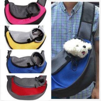 강아지 펫 가방 크로스 앞Pet Carrier Cat Puppy Small Animal Dog Carrier Sling Front Mesh Travel Tote Shoulder Bag Backpack SL