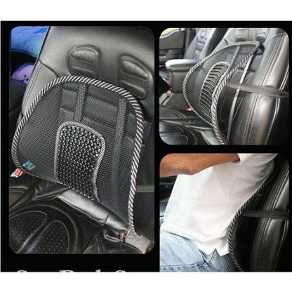차량용 등쿠션 40CMx40CM Universal Car Back Support Chair Massage Lumbar Support Waist Cushion Mesh Ventilate Cushion Pad For Car Office Home 5