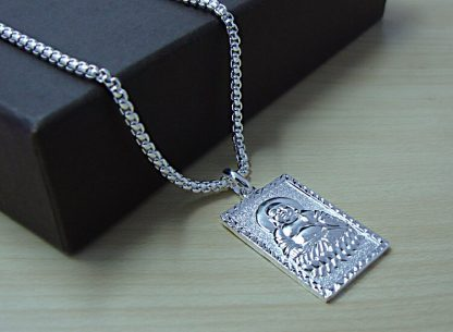 불교 목걸이 Chinese style Buddha pendant necklace fashion brand solid 925 silver necklace for men personality woman sterling silver jewelry 3