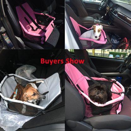 차량용 펫 가방 강아지 고양이 반려동물 Pet Dog Carrier Pad Waterproof Dog Seat Bag Basket Pet Products Safe Carry House Cat Puppy Bag Dog Car Seat 1