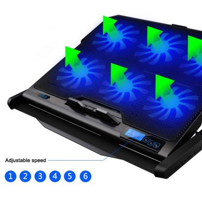 New Laptop cooler 2 USB Ports and Six cooling Fan laptop cooling pad Notebook Stand for 12-15.6 inch for Laptop 1