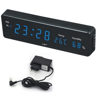 Big Number Large LCD Digital Wall Clock with Temperature humidity horloge mural Electronic Table Watch Desk Alarm Clock