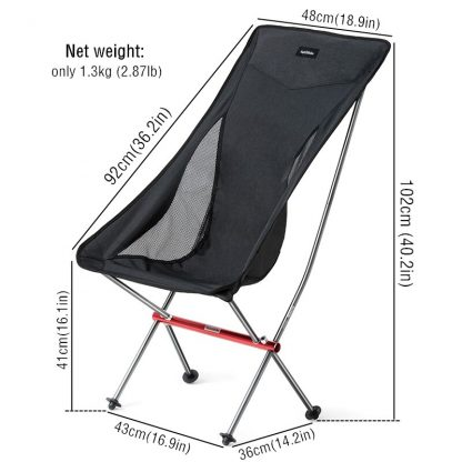 Naturehike Lightweight Compact Portable Outdoor Folding Fishing Picnic Chair Fold Up Beach Chair Foldable Camping Chair Seat 4