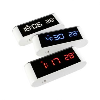 Modern LED Number Clock Home Decor Desk Temp+date+time Electronic Digital Table Desktop Clocks USB Charge Or AAA Bettery New