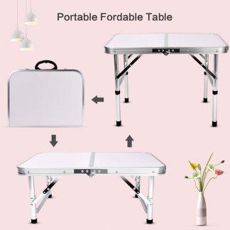 접이식 캠핑 낚시 용품 야외테이블Strong Foldable Table Aluminum Outdoor Camping Table Waterproof Laptop Desk Adjustable Table BBQ Portable Lightweight Box