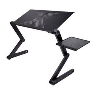 접이식 노트북 받침대Portable foldable adjustable folding table for Laptop Desk Computer mesa para notebook Stand Tray For Sofa Bed Black