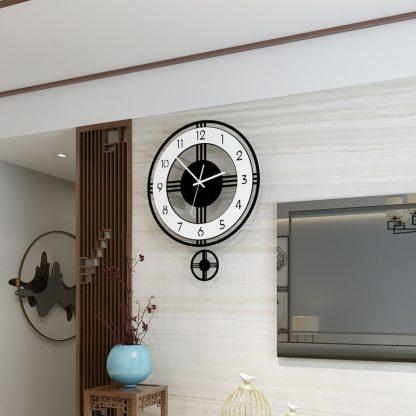 모던 클래식 거실 벽시계 Swingable Silent Large Wall Clock Modern Design Battery Operated Quartz Hanging Clocks Home Decor Kitchen Watch Free Shipping 5