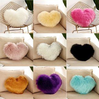 하트모양 홈데코 쿠션 Heart Shaped Beautiful Sofa Waist Throw Cushion Case For Home Decor Sofa Cushions girls velvet Throw Gift Decorativos 21