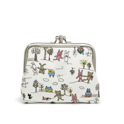Canvas Women Coin Purse Small Mini Bag For Coin Plush Purse Wallet Girl Little Bag For Ladies Small Pouch Kawaii Children Wallet 2