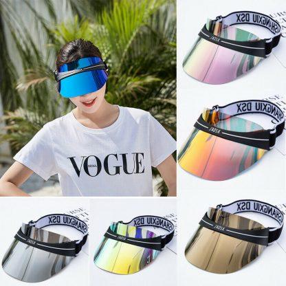 Summer Hats Sun Visors Women Men High Quality Casual Hats PVC Clear Plastic Adult UV Protective Beach Sunscreen Caps 2