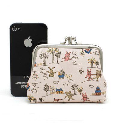 Canvas Women Coin Purse Small Mini Bag For Coin Plush Purse Wallet Girl Little Bag For Ladies Small Pouch Kawaii Children Wallet 1