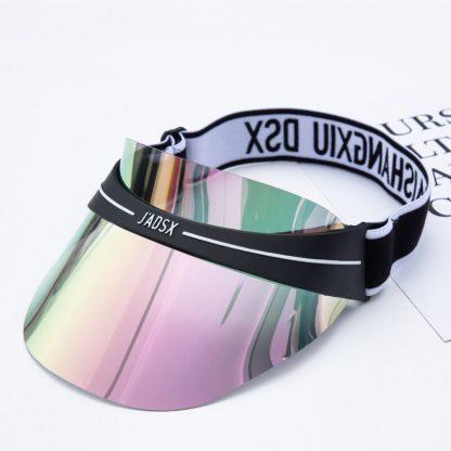 Summer Hats Sun Visors Women Men High Quality Casual Hats PVC Clear Plastic Adult UV Protective Beach Sunscreen Caps 5