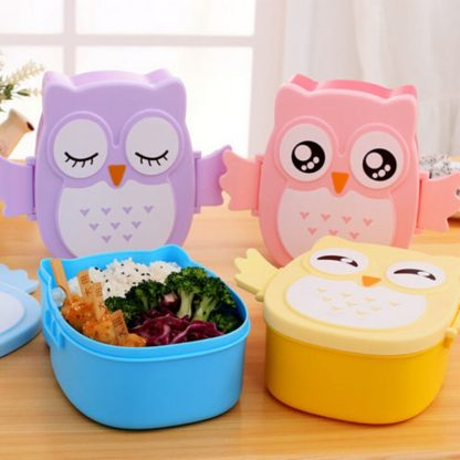 Cute Cartoon Owl Lunch Box Food Container Storage Box Portable Kids Student Lunch Box Bento Box Container With Compartments Case 1