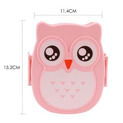 Cute Cartoon Owl Lunch Box Food Container Storage Box Portable Kids Student Lunch Box Bento Box Container With Compartments Case 4