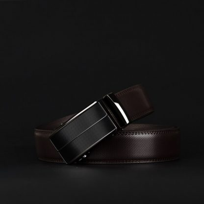 COWATHER New Arrival  cow genuine leather men's belt cowhide strap for male automatic buckle belts for men alloy buckle belts 2