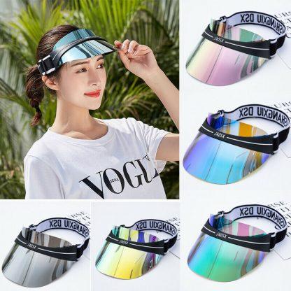 Summer Hats Sun Visors Women Men High Quality Casual Hats PVC Clear Plastic Adult UV Protective Beach Sunscreen Caps 1