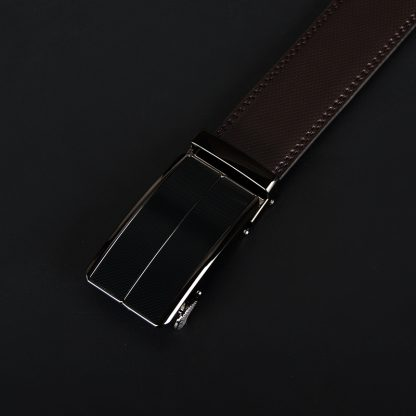COWATHER New Arrival  cow genuine leather men's belt cowhide strap for male automatic buckle belts for men alloy buckle belts 4