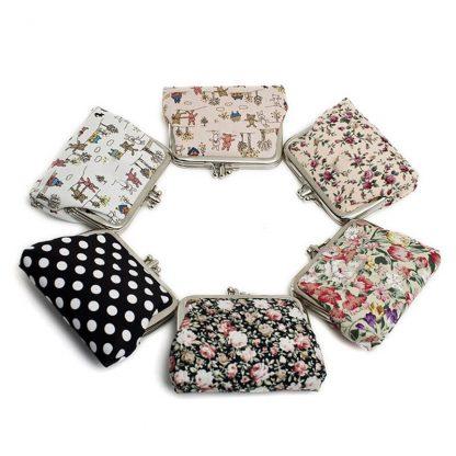Canvas Women Coin Purse Small Mini Bag For Coin Plush Purse Wallet Girl Little Bag For Ladies Small Pouch Kawaii Children Wallet 4